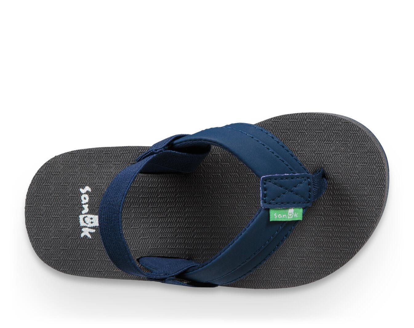 boys girls kids 11 12 13 1 2 3 4 5 sandals shoes YELLO SKULL FLIP FLOPS