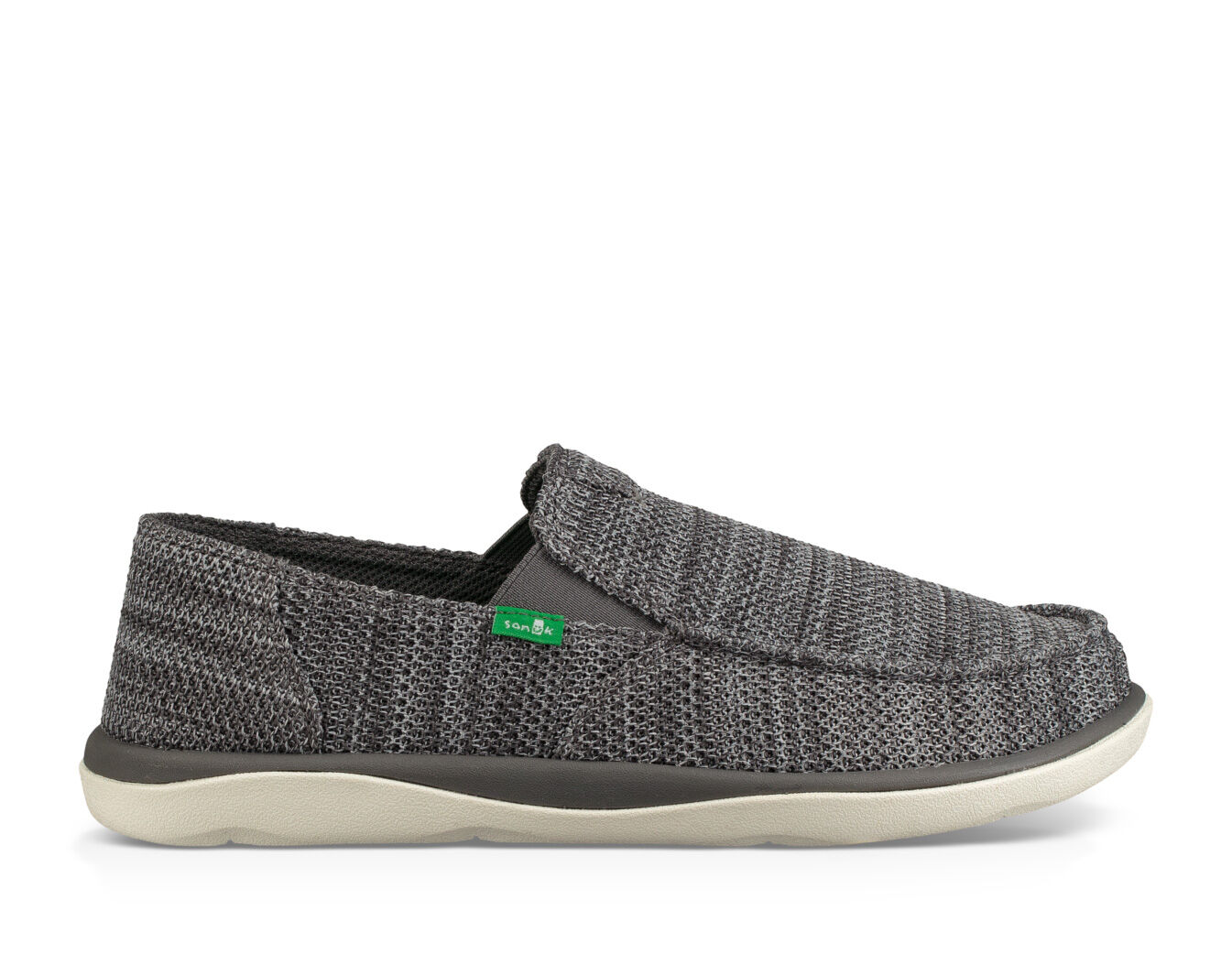 Sanuk Men's Vagabond Tripper Mesh Sidewalk Surfer Charcoal 14 & Cleaner