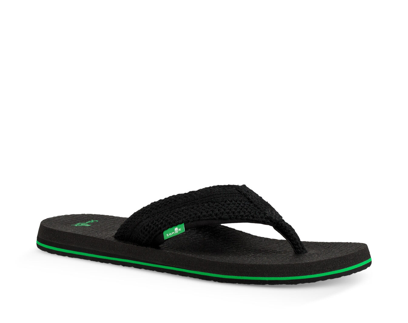 Sanuk M Beer Cozy Flip Flops  Black  4GF3C3949