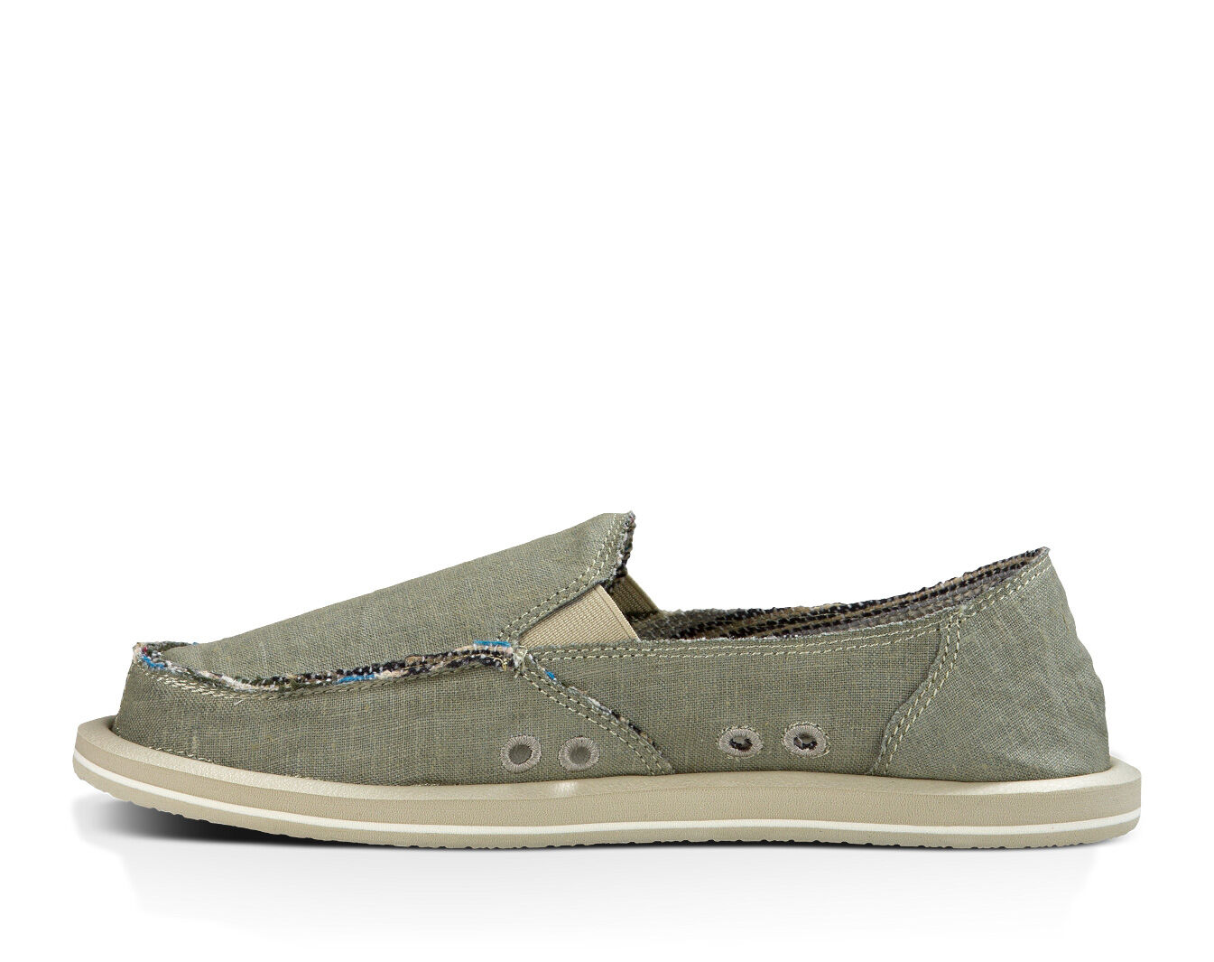 Women/'s Shoes Sanuk DONNA HEMP Casual Sidewalk Surfers SWF1160 OLIVE GREY