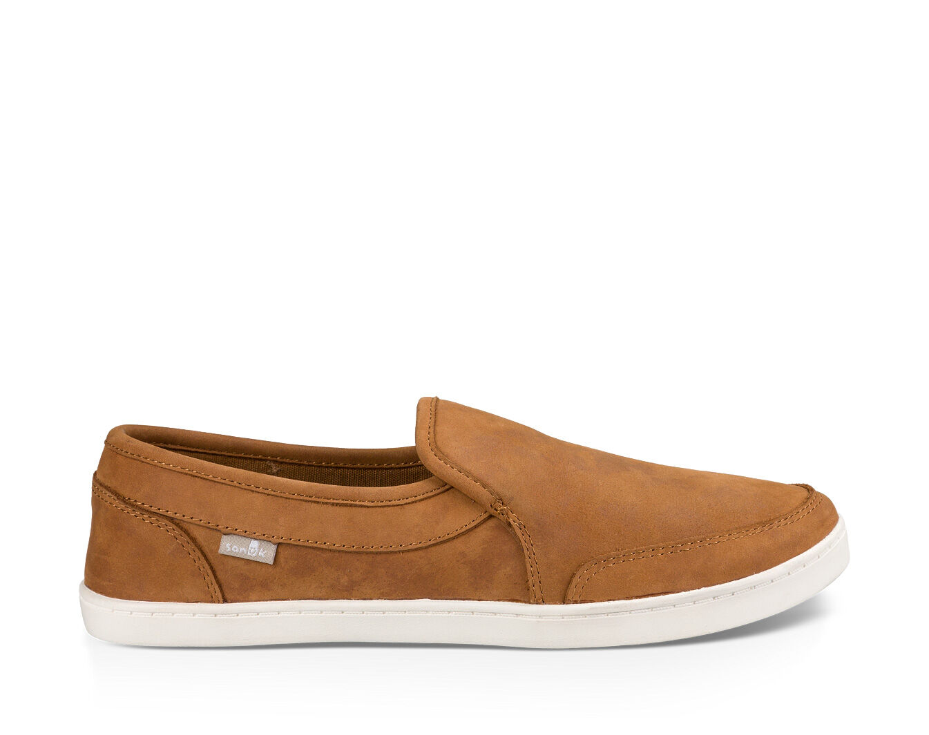 Pair O Dice Leather Slip-on Sneakers