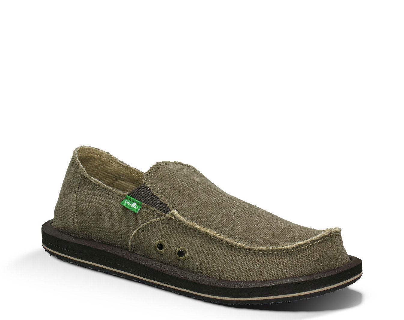 Sanuk Men's Vagabond Big & Tall Sandals - Charcoal 17