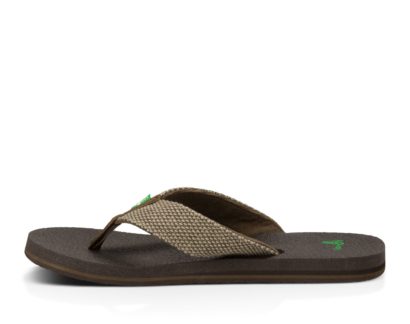 NEW Men/'s SANUK M YOGI 4 BROWN WEAVE flip flop sandal size 7 8