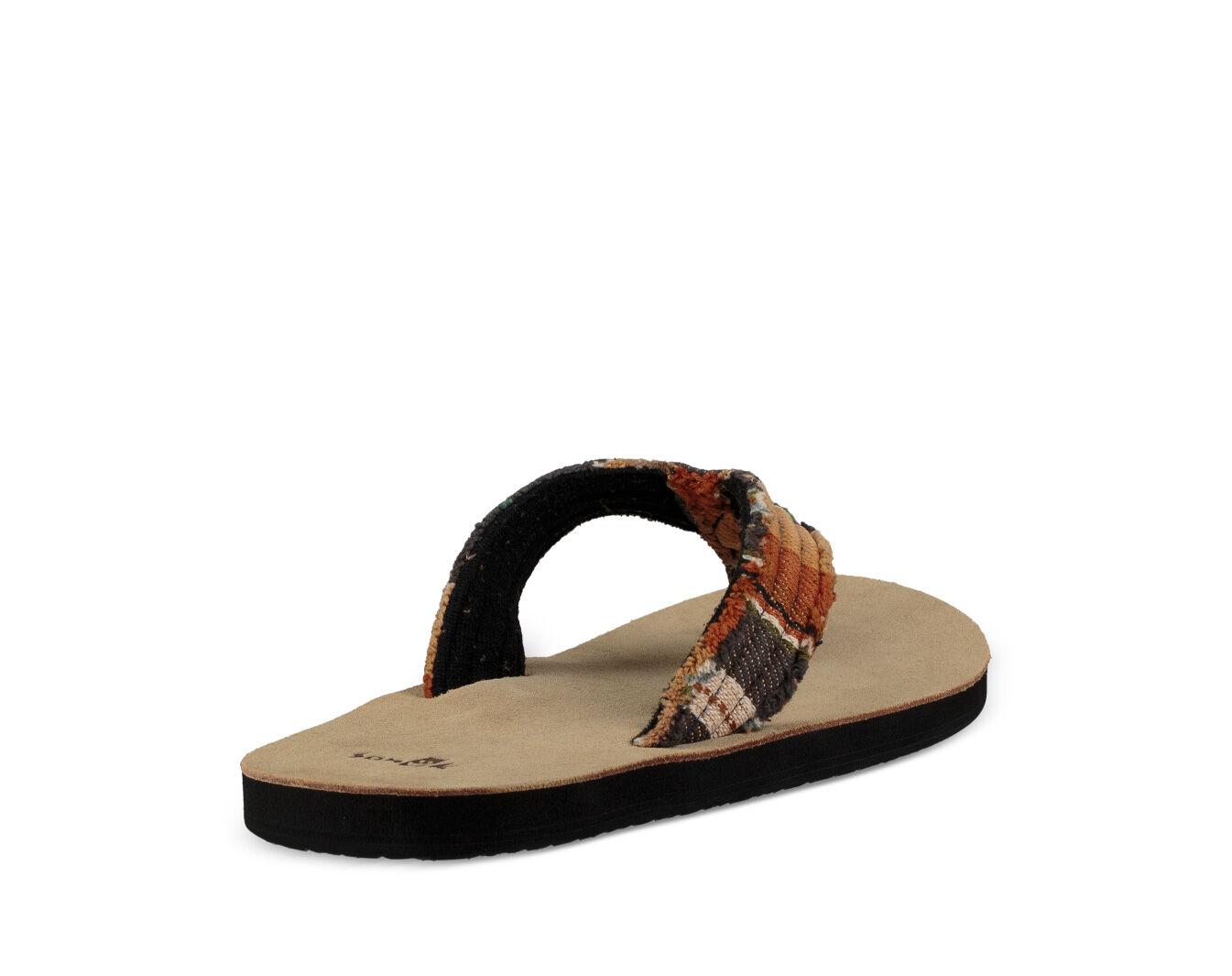 Charcoal 9 Sanuk Men/'s Fraid Not Sandal
