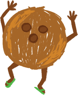 Image of the Coconut Man.
