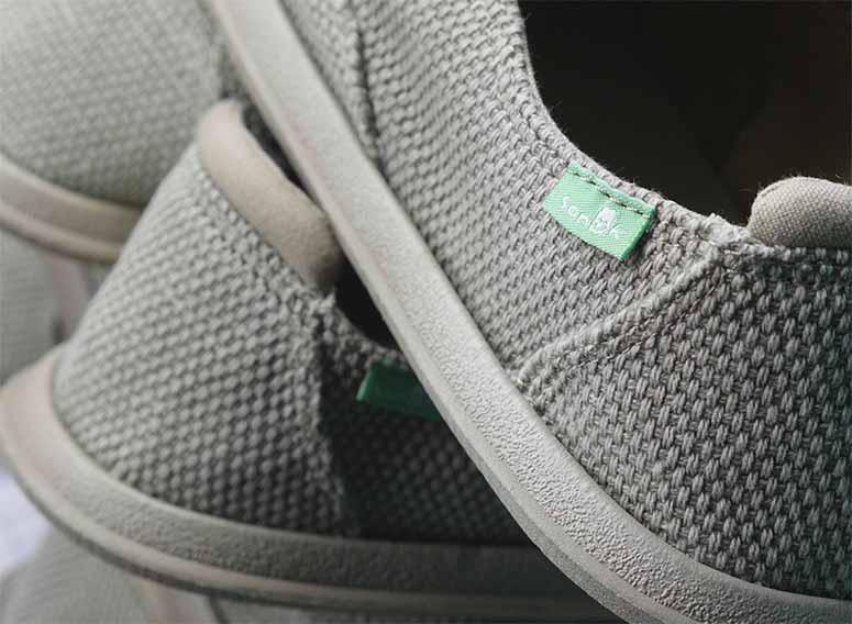 close up of Sanuk shoes
