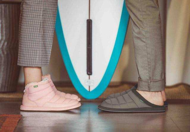 Sanuk Women/'s Puff N Chill Ankle Boot 8 Black