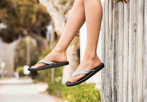 5e04fb896d7 Woman wearing Sidewalker sandal.
