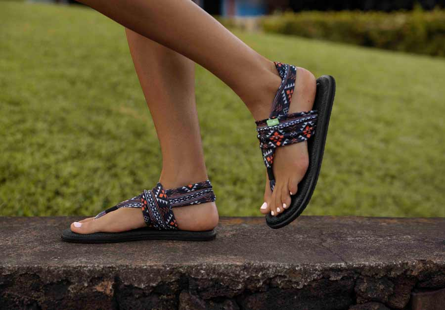 discount shop undefeated x order online Women's Yoga Sling 2 Prints Sandals | Sanuk® Official