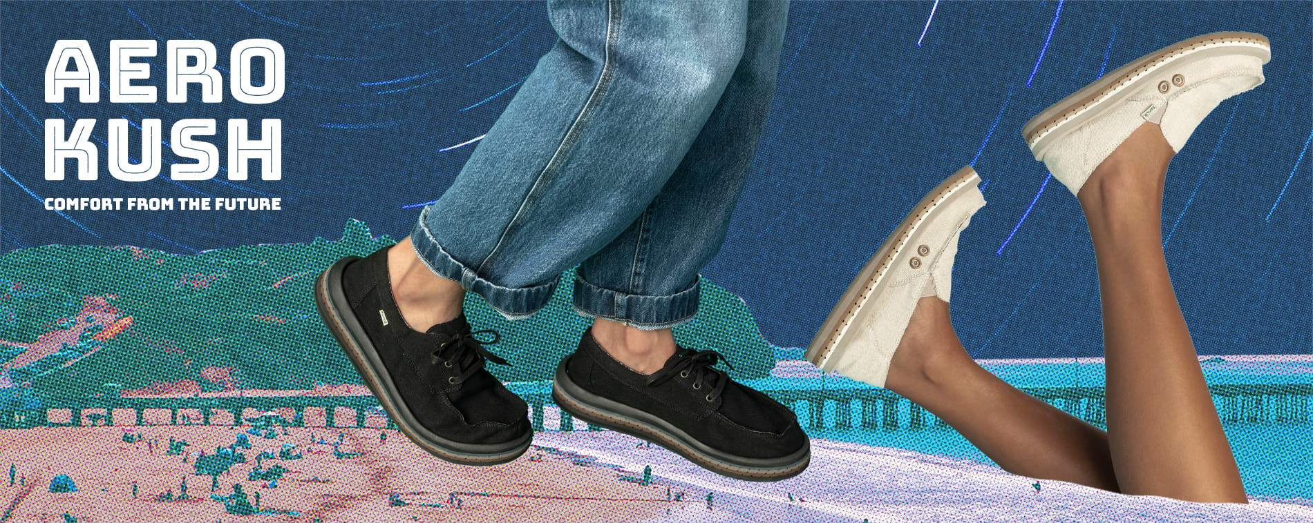 The AeroKush shoes from Sanuk.