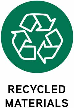 Recycled materials icon.