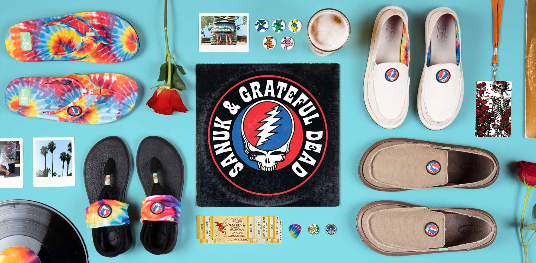 Sanuk x Grateful Dead