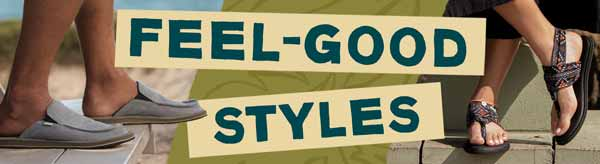 Sanuk Feel Good Styles.