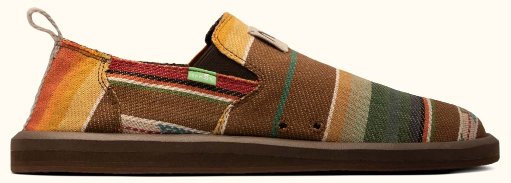Vagabond x Rick Rubin shoe in brown and orange blanket color.
