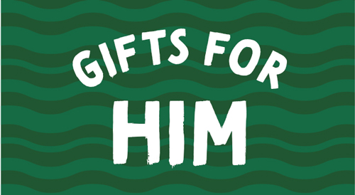 Green icon for gift for him.