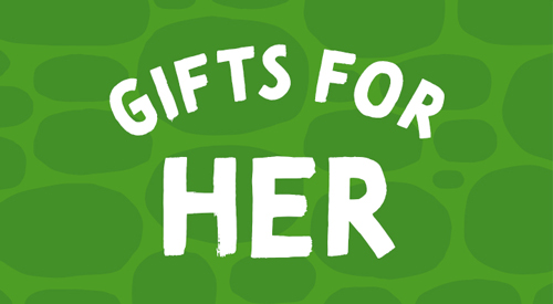 Green icon for gift for her.