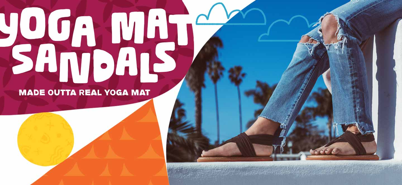 Yoga Mat Sandals - Made outta real yoga mat