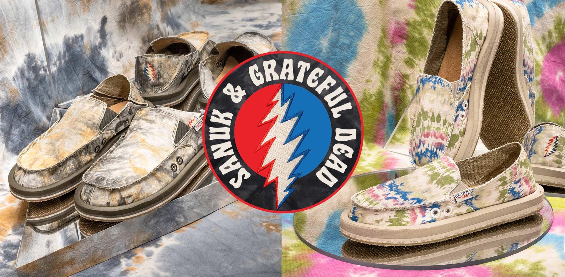 2021 Lifestyle Apparel Collection | Sanuk X Grateful Dead Collaboration