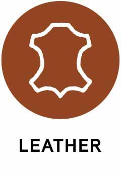 Sustainable leather icon.