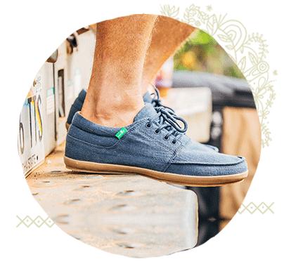 Close-up of Mens Sanuk Sneakers
