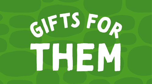 Green icon for gift for giftsThem.
