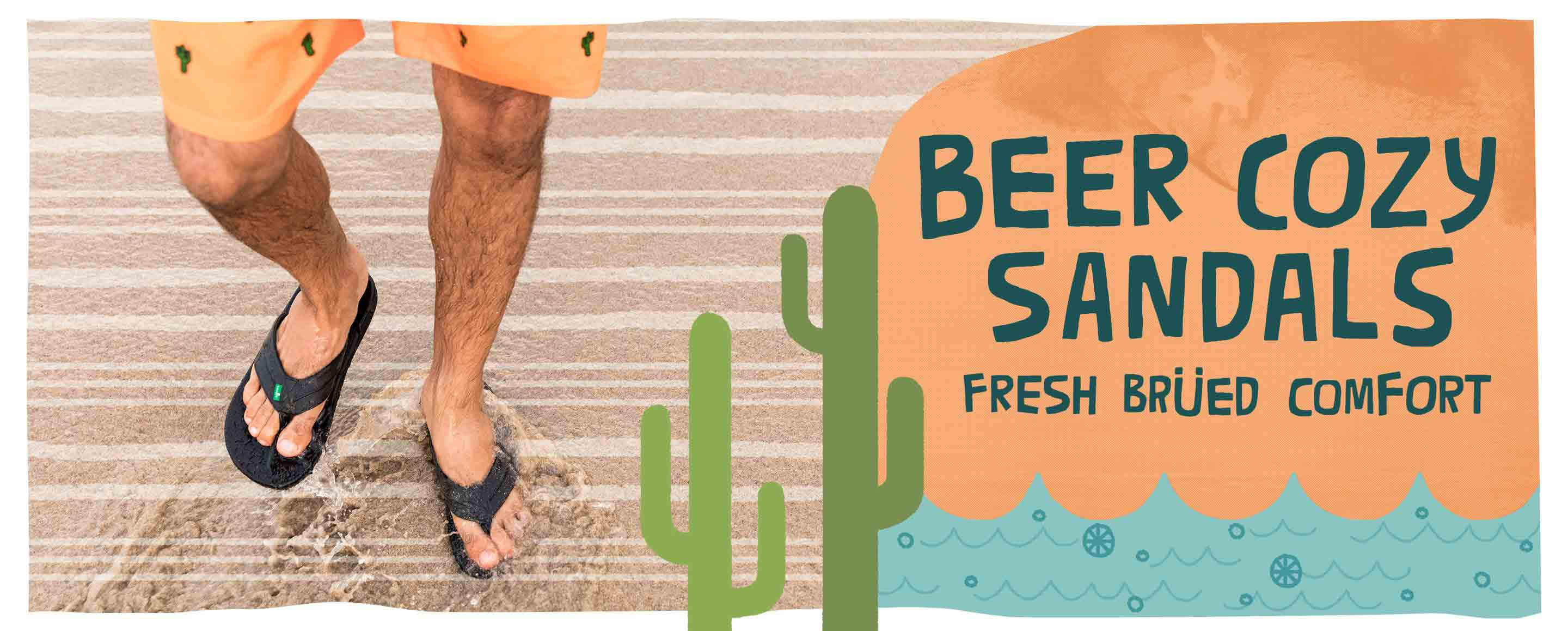 Beer Cozy Sandals - Fresh Brued Comfort
