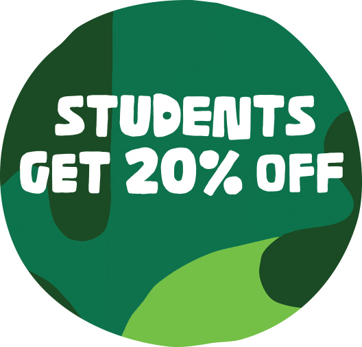 Students get 20% off